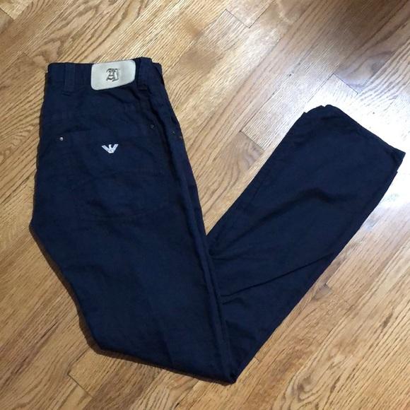5fc6e756 Men's Armani Jeans navy blue pants